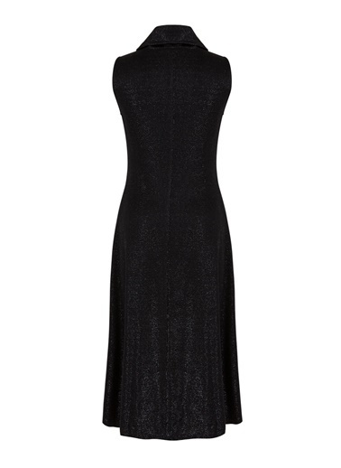 Nocturne Sim İplikli Örme Elbise Siyah